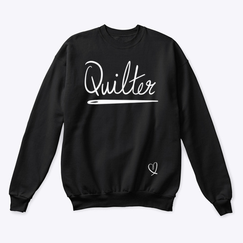 Quilter Tee  White Black T-Shirt Front