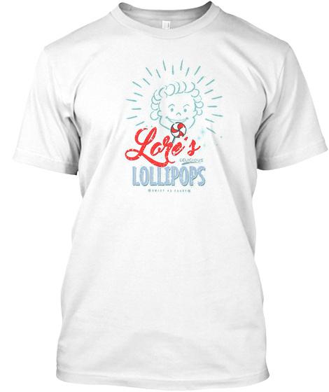 Laris Lollipops White T-Shirt Front
