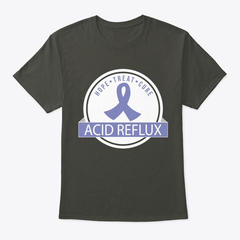 Acid Reflux Awareness Ribbon Smoke Gray T-Shirt Front
