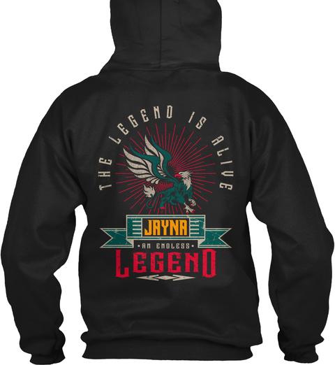 Jayna   Alive And Endless Legend Black T-Shirt Back