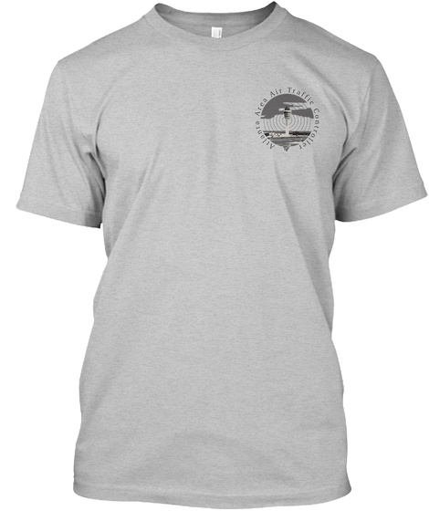 Atlanta Area Air Traffic Controller Light Heather Grey  T-Shirt Front