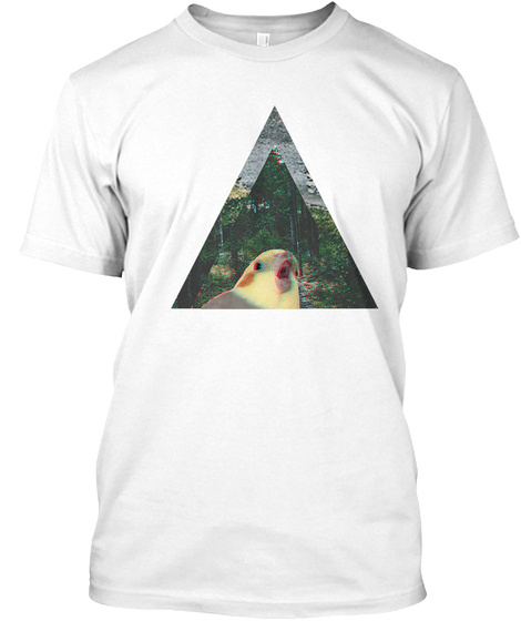 Hipster Cockatiel White T-Shirt Front