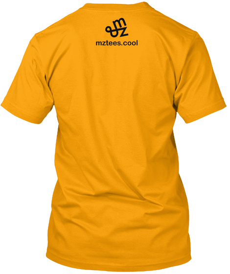 Caution Gold T-Shirt Back