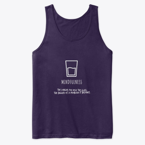 Glass Of Mindfulness Team Purple T-Shirt Front