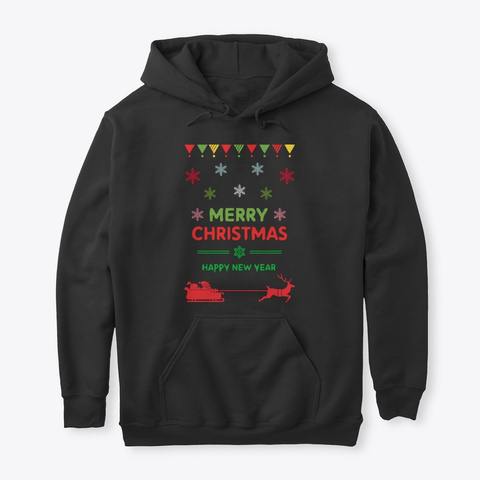 Christmas T Shirts!! Black T-Shirt Front