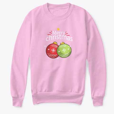 Kids Christmas Sweatshirts And More Pale Pink  T-Shirt Front