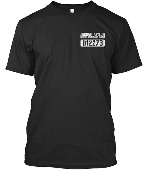 Arkham Asylum For The Criminally Insake 012273 Black T-Shirt Front