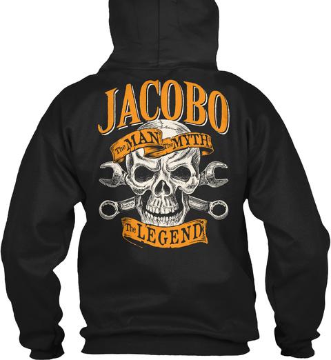 Jacobo The Man The Myth The Legend Black T-Shirt Back