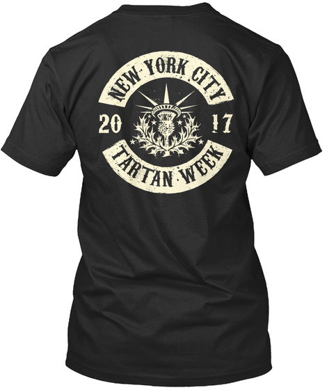 Nyc Tartan Week Tshirts And More! Black T-Shirt Back