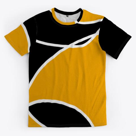 Black Orange Abstract Minimal Art Standard T-Shirt Front