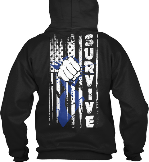 Survive Black Sweatshirt Back