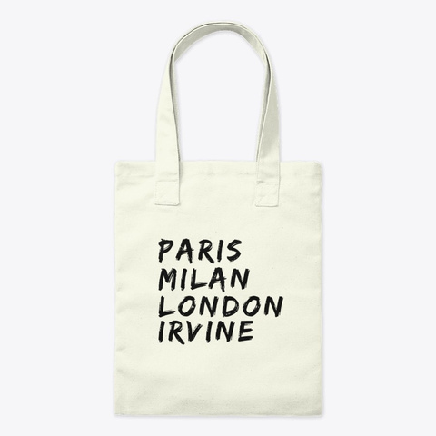 Irvine California Tote  Natural T-Shirt Front