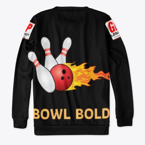 Bowl Bold / Dark Black T-Shirt Back