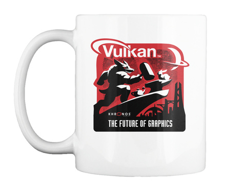 Vulkan Khronos The Future Of Graphics White T-Shirt Front