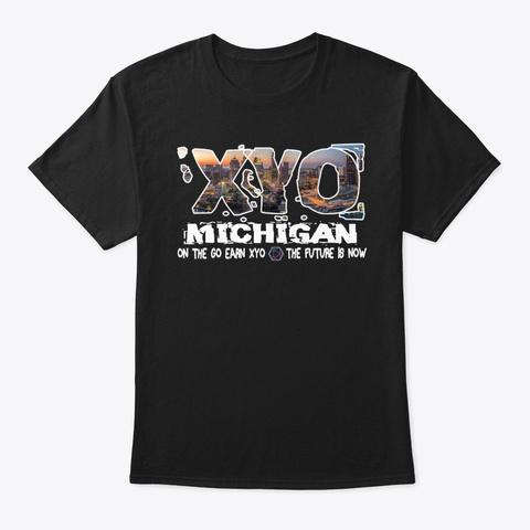 Xyo Michigan Design Black Maglietta Front