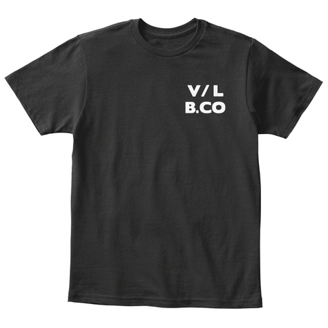 V/L  B.Co Black T-Shirt Front