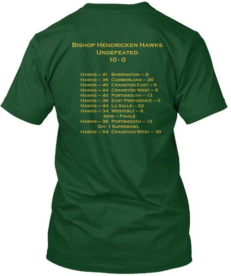 World Map Deep Forest T-Shirt Back