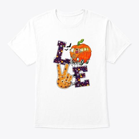 Halloween Pumpkin White T-Shirt Front