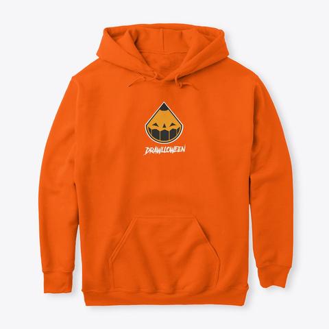 Drawlloween Hoodie Safety Orange T-Shirt Front