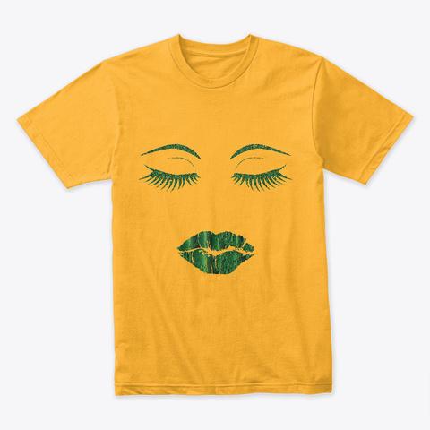 Green Luck T Shirt Gold T-Shirt Front