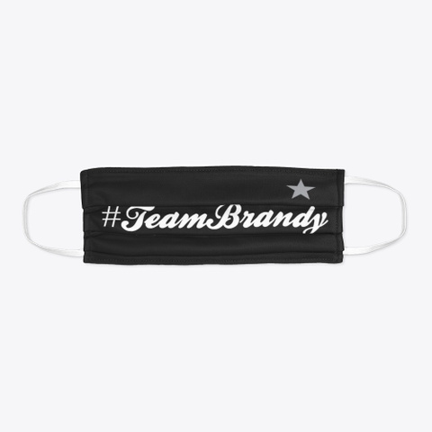 Team Brandy Face Mask Black Maglietta Flat