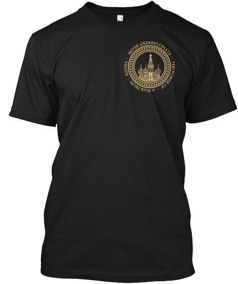 Man From Russia Black T-Shirt Front