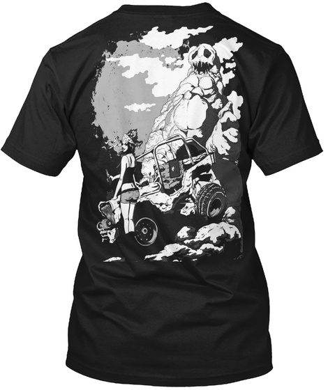 Rock And Roll Off Road Her Black T-Shirt Back