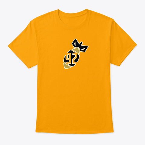 """92 Mg """"Bomb"""" Series  Limited Edition Gold T-Shirt Front"""
