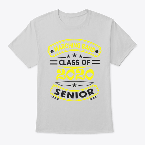 [Class Of 2020] Marching Band   Yellow Light Steel T-Shirt Front
