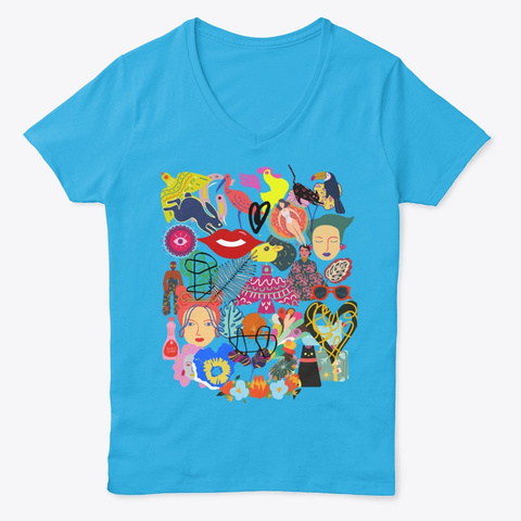 Celebrate Micke Collection Aquatic Blue  T-Shirt Front