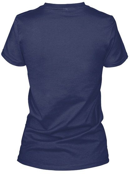 Embroidering Navy Women's T-Shirt Back