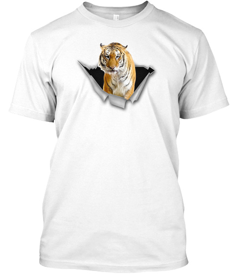 Tiger Tm White T-Shirt Front
