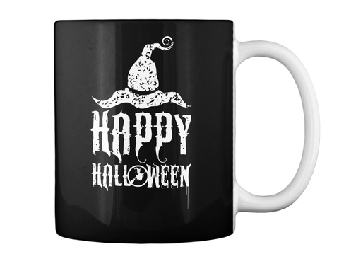 Happy Halloween Black T-Shirt Back