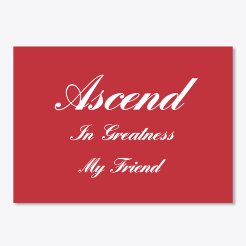 Extra Ascend Essentials  Bright Red T-Shirt Front