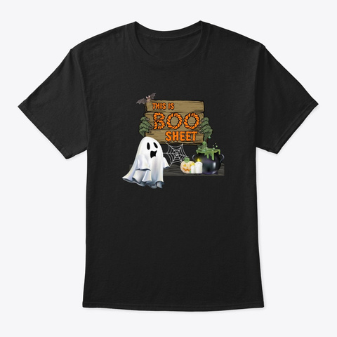 This Is Boo Sheet Funny Boo Halloween Black T-Shirt Front