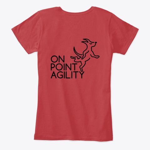 On Point Agility Women's T Shirt Classic Red T-Shirt Back