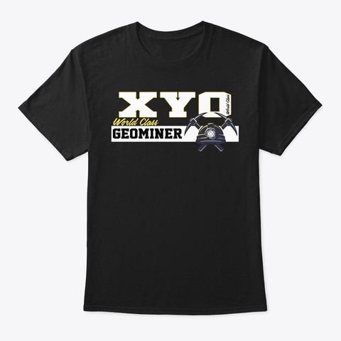 Xyo World Class Geominer Design Black T-Shirt Front