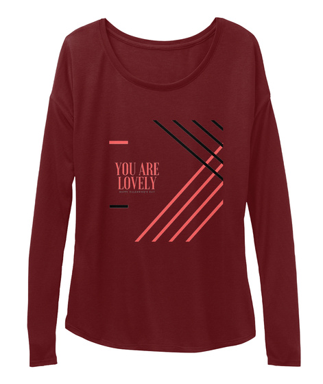 Best Valentine Gift For Girlfriend Maroon Long Sleeve T-Shirt Front