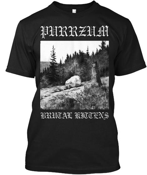 Purrzum Black T-Shirt Front