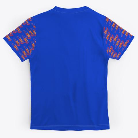 Nc Area Code 252 Royal Blue T-Shirt Back