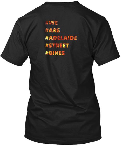 Proud Members Of Adelaide Street Bikes Black T-Shirt Back