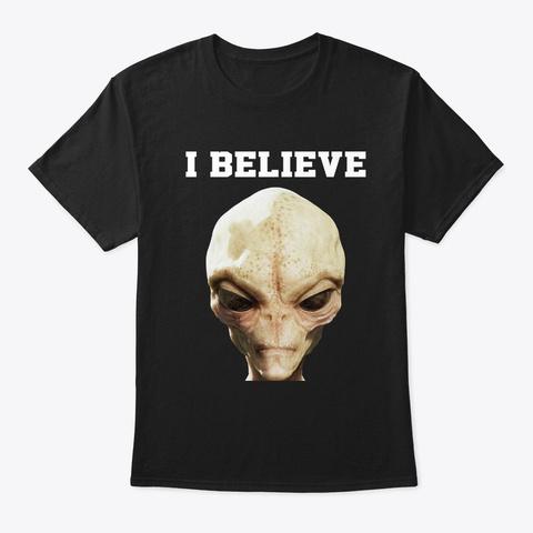 I Believe Black T-Shirt Front
