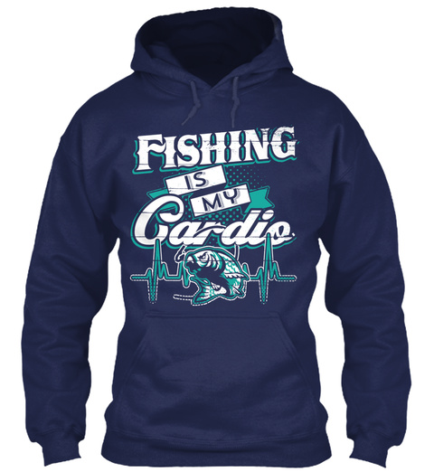 Fishing Is My Gardio Navy Sweatshirt Front