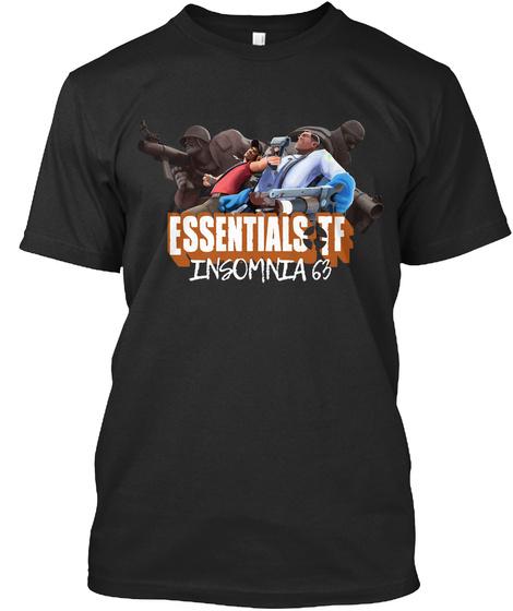 Essentials If Insomnia 63 Black T-Shirt Front