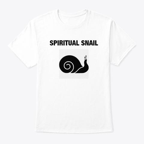 Spiritual Snail White T-Shirt Front