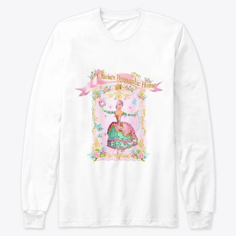 Olivia's Romantic Home ~Marie Antoinette White T-Shirt Front