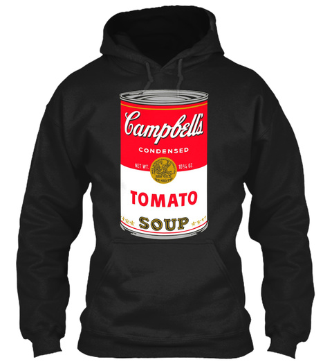 Andy Warhol Campbell Soup Can Pop Art Pr Black T-Shirt Front