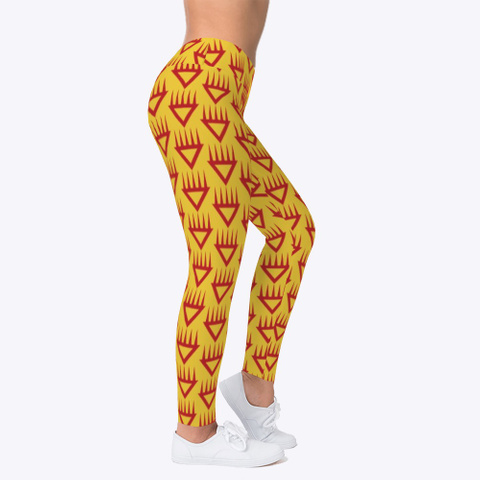 Red Bear Claw Leggings Yellow T-Shirt Right