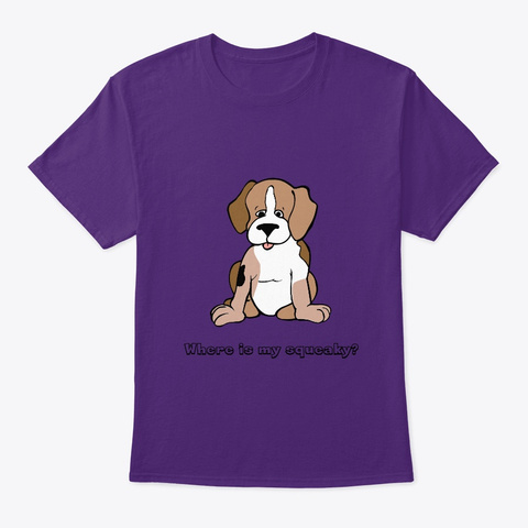 Puppy Lost Toy Purple T-Shirt Front