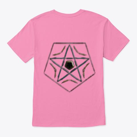 Artistic Geometric Design  Pink T-Shirt Back